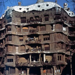 Casa Mila in Barcelona, Spain by architect Antoni Gaudi