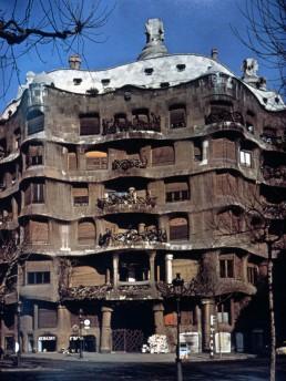 Casa Mila in Barcelona, Spain by architect Antoni Gaudi