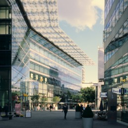 Sony Center in Berlin, Germany by architect Helmut Jahn