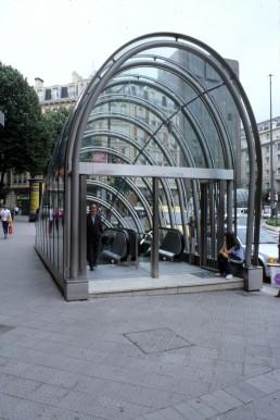 Bilbao Metro in Bilbao, Spain by architect Norman Foster
