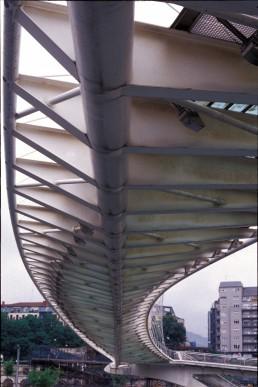 Campo Volantin Footbridge in Bilbao, Spain by architect Santiago Calatrava