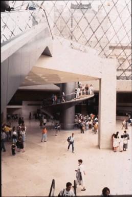 Louvre Museum in Paris, France by architect I.M. Pei