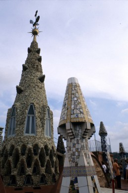 Palace Guell in Barcelona, Spain by architect Antoni Gaudi