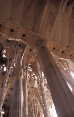 Sagrada Familia in Barcelona, Spain by architect Antoni Gaudi