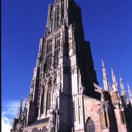 Ulm Cathedral in Ulm, Germany by architect Ulrich von Ensinger