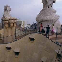 Guell Park in Barcelona, Spain by architect Antoni Gaudi