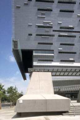 Morphosis Architecture Cal Trans District 7 Headquarters Los Angeles California Articulated Technical Facade Operable Mesh