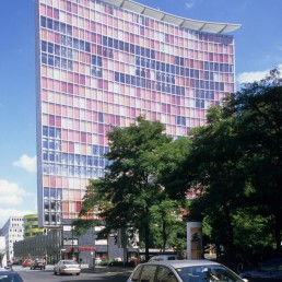 GSW Tower in Berlin, Germany by architect Sauerbruch Hutton Architects