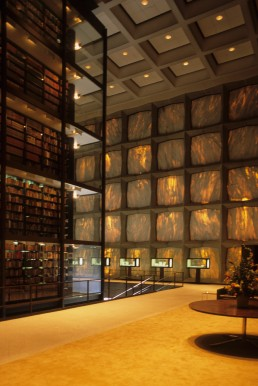 Beinecke Rare Book and Manuscript Library in New Haven, Connecticut by architects Skidmore Owings and Merrill, Gordon Bunshaft