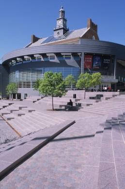 Tangeman University Center in Cincinnati, Ohio by architect Gwathmey Siegel and Associates