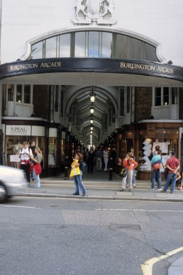 Burlington Arcade in London, Britain by architect Samuel Ware