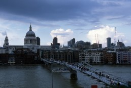 Millenium Bridge in London, Britain by architect Norman Foster