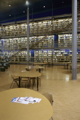 Library at Delft University of Technology in Delft, Netherlands by architect Mecanoo Architects