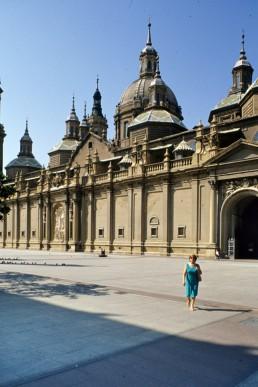 El Pilar Basillica in Zaragoza, Spain by architect Ventura Rodriguez