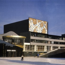 Netherlands Dance Theater in The Hague, Netherlands by architect Rem Koolhaas
