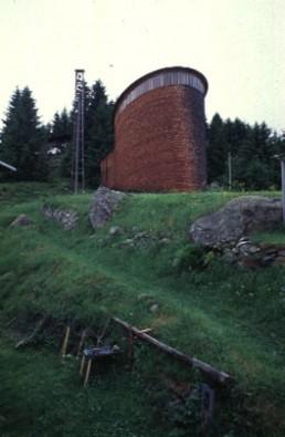St. Benedict Chapel in Sumvitg, Switzerland by architect Peter Zumthor