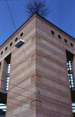 Ransila Office Building in Lugano, Switzerland by architect Mario Botta
