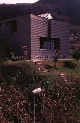 Posterla House in Morbio Superiore, Switzerland by architect Mario Botta