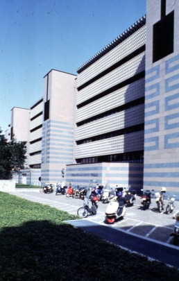 Bank of Gotihard in Lugano, Switzerland by architect Mario Botta