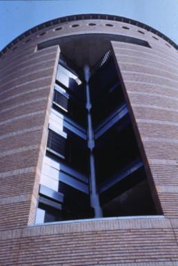 Office Building in Lugano, Switzerland by architect Mario Botta