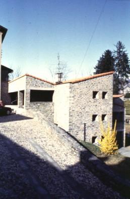 Riva San Vitale Residences in Riva San Vitale, Switzerland by architect Mario Botta