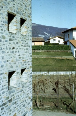 Riva San Vitale Residences in Riva San Vitale, Switzerland by architect Mario Botta