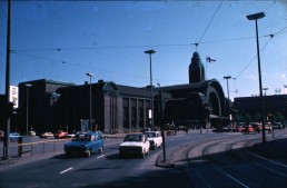 Railroad Station in Helsinki, Finland by architect Eliel Saarinen