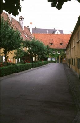 Fuggerei Housing in Augsburg, Germany