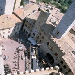 Piazza del Duomo in San Gimignano, Italy