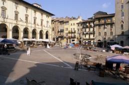 Piazza Grande Arezzo in Arezzo, Italy