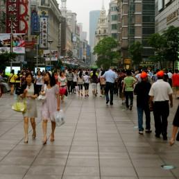Shanghai Street Scene in Shanghai, China
