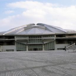Tokyo Metropolitan Gymnasium in Tokyo, Japan by architect Fumihiko Maki