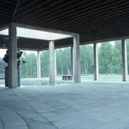 Crematorium at Woodland Cemetary in Stockholm, Sweden by architect Asplund and Lewerentz