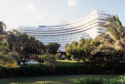Fontain Bleu Hotel in Miami Beach, Florida by architect Morris Lapidus