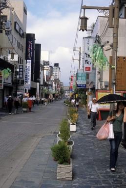 Sanjo Dori Street in Nara, Japan