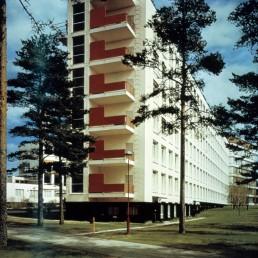 Paimio Tuberculosis Sanatorium by architect Alvar Aalto