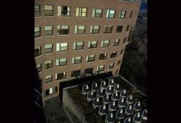 Baker House at MIT in Cambridge, Massachussetts by architect Alvar Aalto