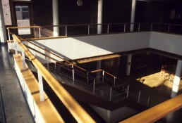 Baker House at MIT in Cambridge, Massachussetts by architect Alvar Aalto