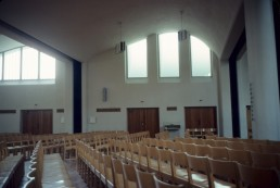 Vouksenniska Church in Helsinki, Finland by architect Alvar Aalto