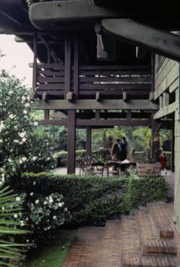 Greene and Greene Gamble House California Architecture shot in 1985