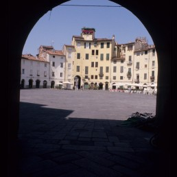 Piazza dell'Anfiteatro in Lucca, Italy