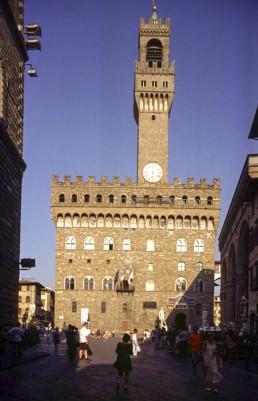 Palazzo Vecchio in Florence, Italy by architects Arnolfo di Cambio, Michelozzo Michelozzi