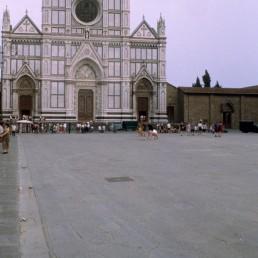Santa Croce Basilica in Florence, Italy by architect Arnolfo di Cambio