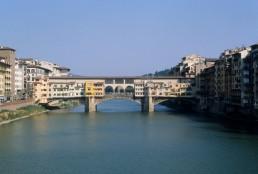Ponte Vecchio in Florence, Italy by architect Neri di Fioravante