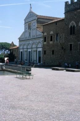 San Miniato al Monte in Florence, Italy by architect Bernardo Rossellino