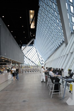 Seattle Central Library in Seattle, Washington by architects Rem Koolhaas, OMA, Office for Metropolitan Architecture, Joshua Ramus