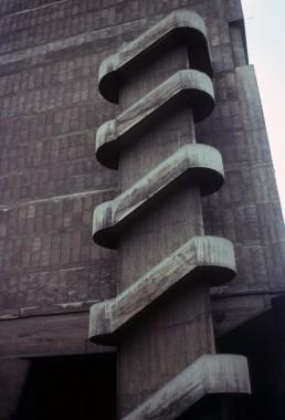 Unité d'Habitation in Marseille, France by architects Le Corbusier, Charles-Édouard Jeanneret