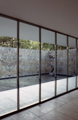 Barcelona Pavilion in Barcelona, Spain by architect Ludwig Mies van der Rohe