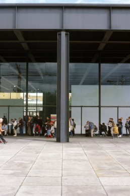 New National Gallery in Berlin, Germany by architect Ludwig Mies van der Rohe