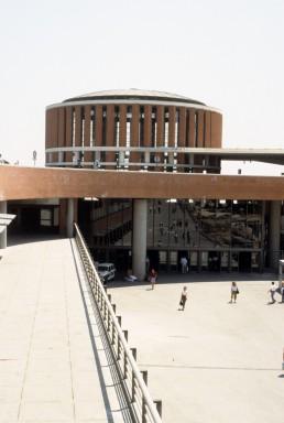 Madrid Atocha railway station in Madrid, Spain by architect José Rafael Moneo